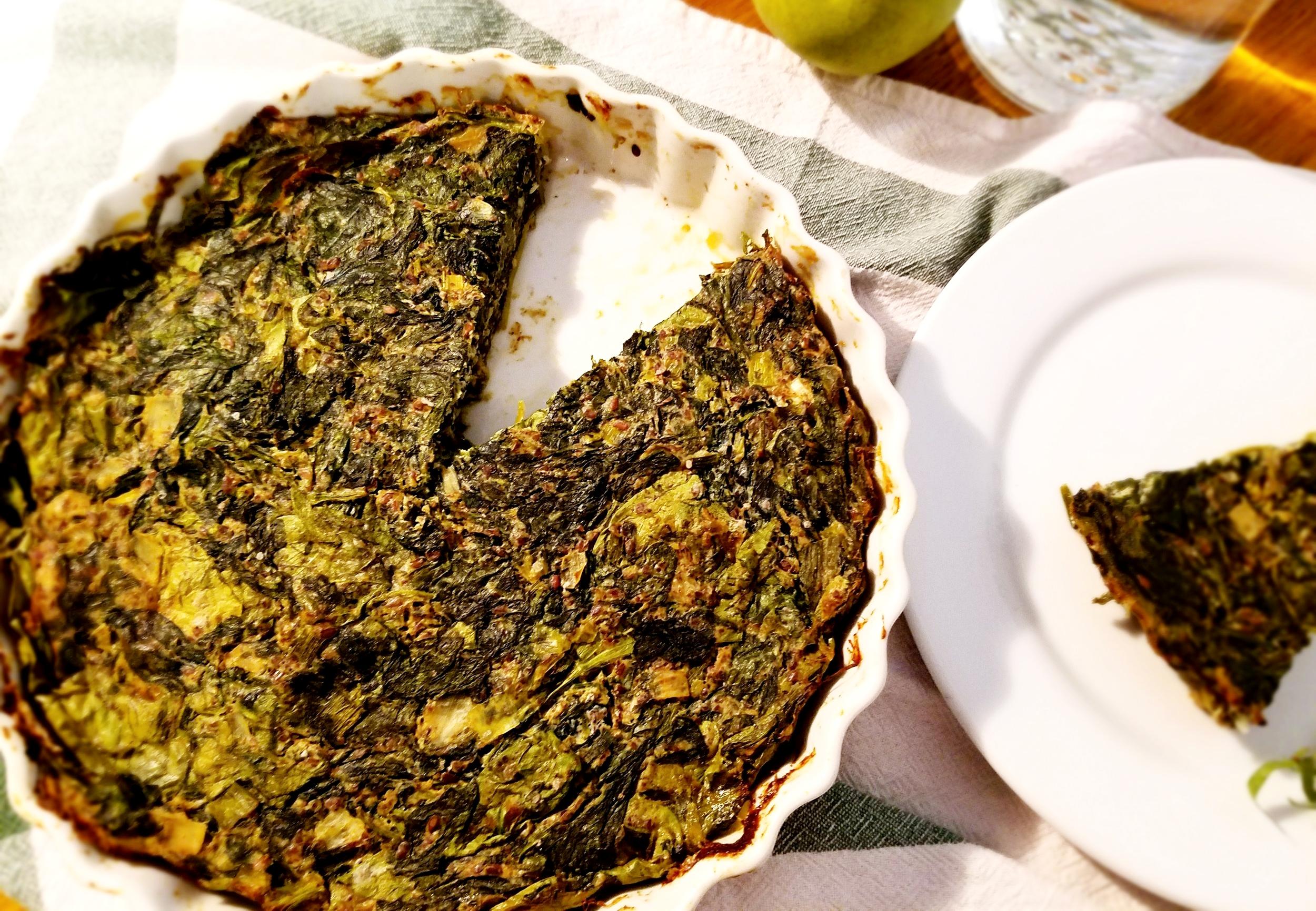 Spinach Herb Vegan Frittata