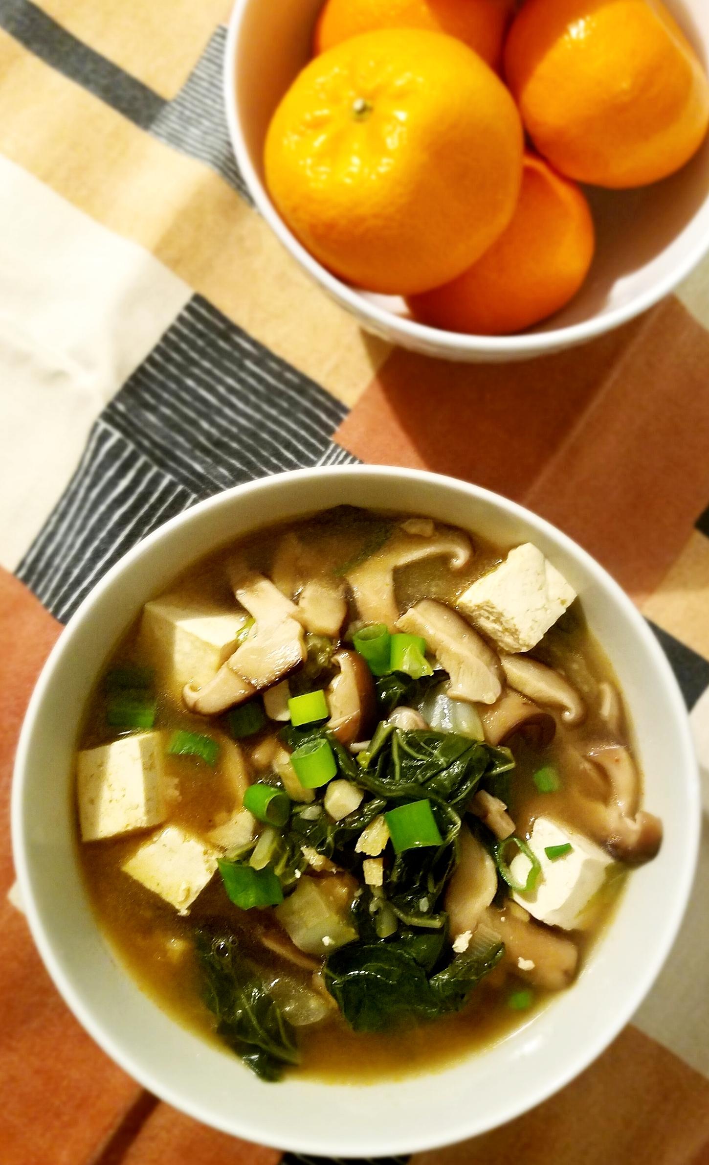 Bok Choy Shiitake Soup