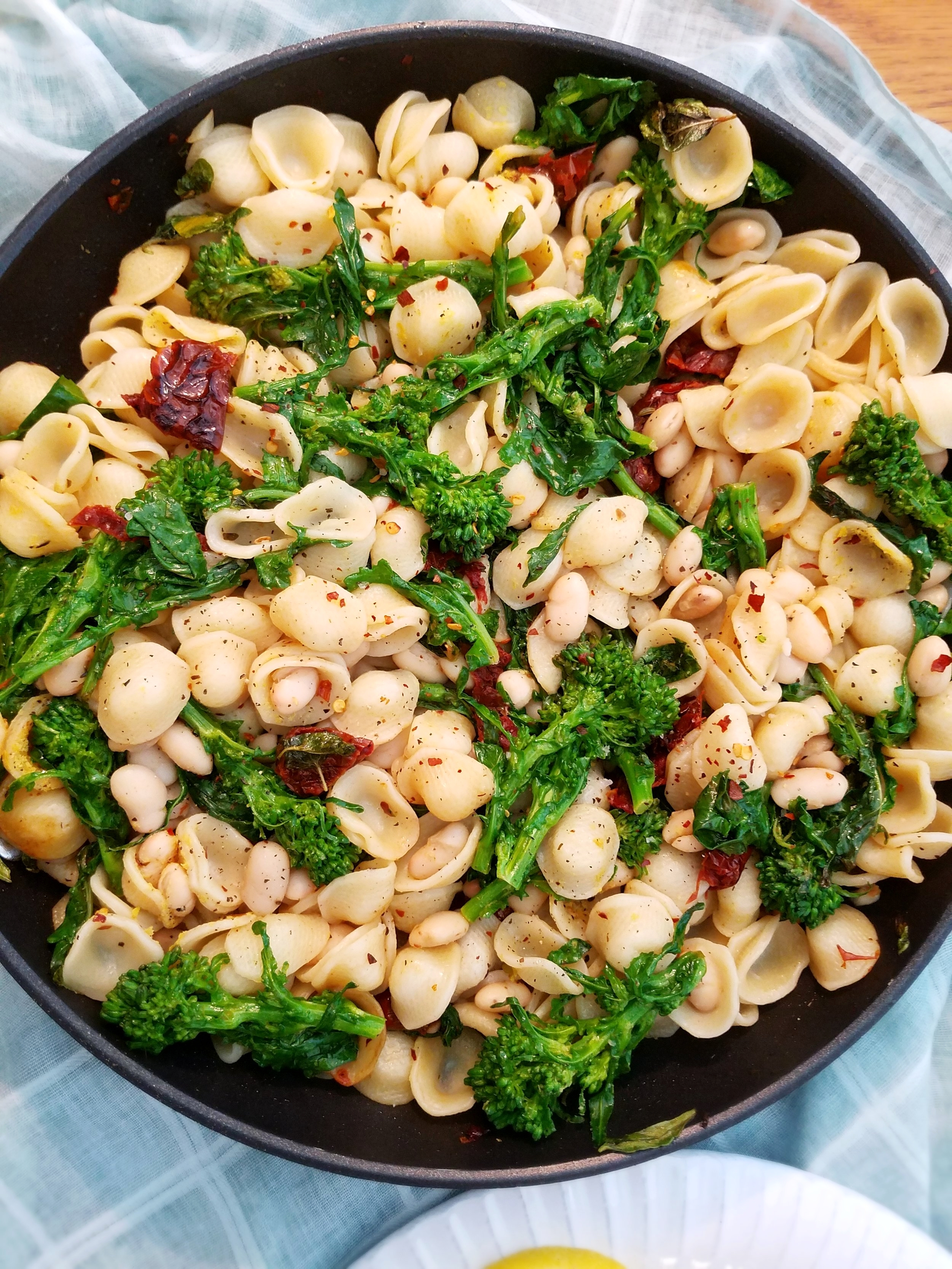 Orecchiette with Broccoli Rabe, Sun-Dried Tomatoes and Cannellini Beans.jpg