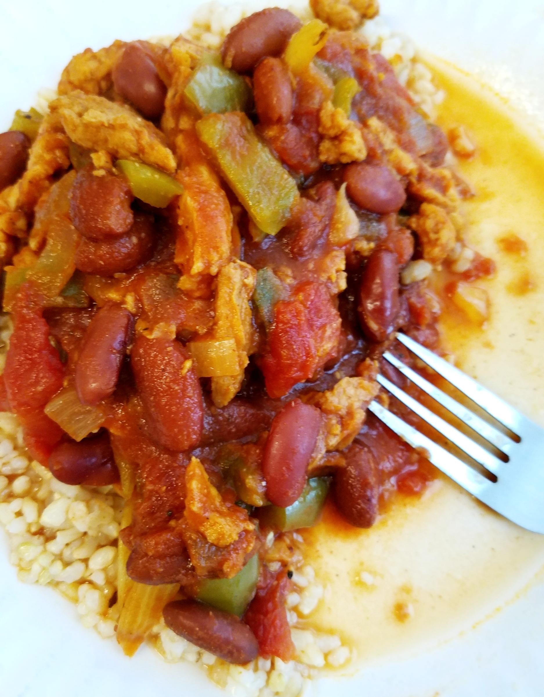 Cajun Kidney Beans and Brown Rice