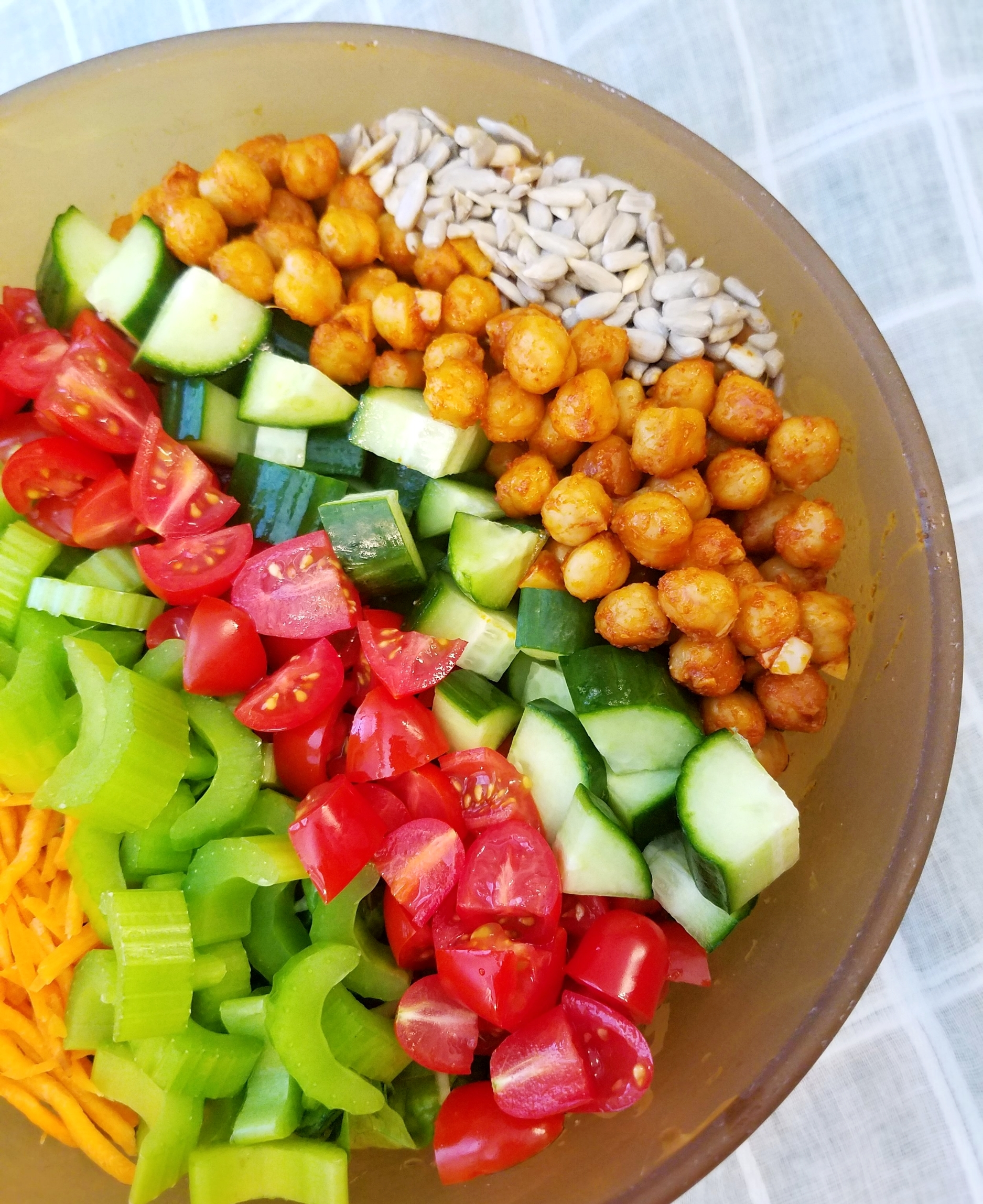 Vegan Baconed Chickpea Salad with Ranch Dressing