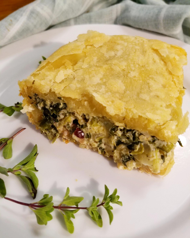 Vegan Greek Spinach Pastry