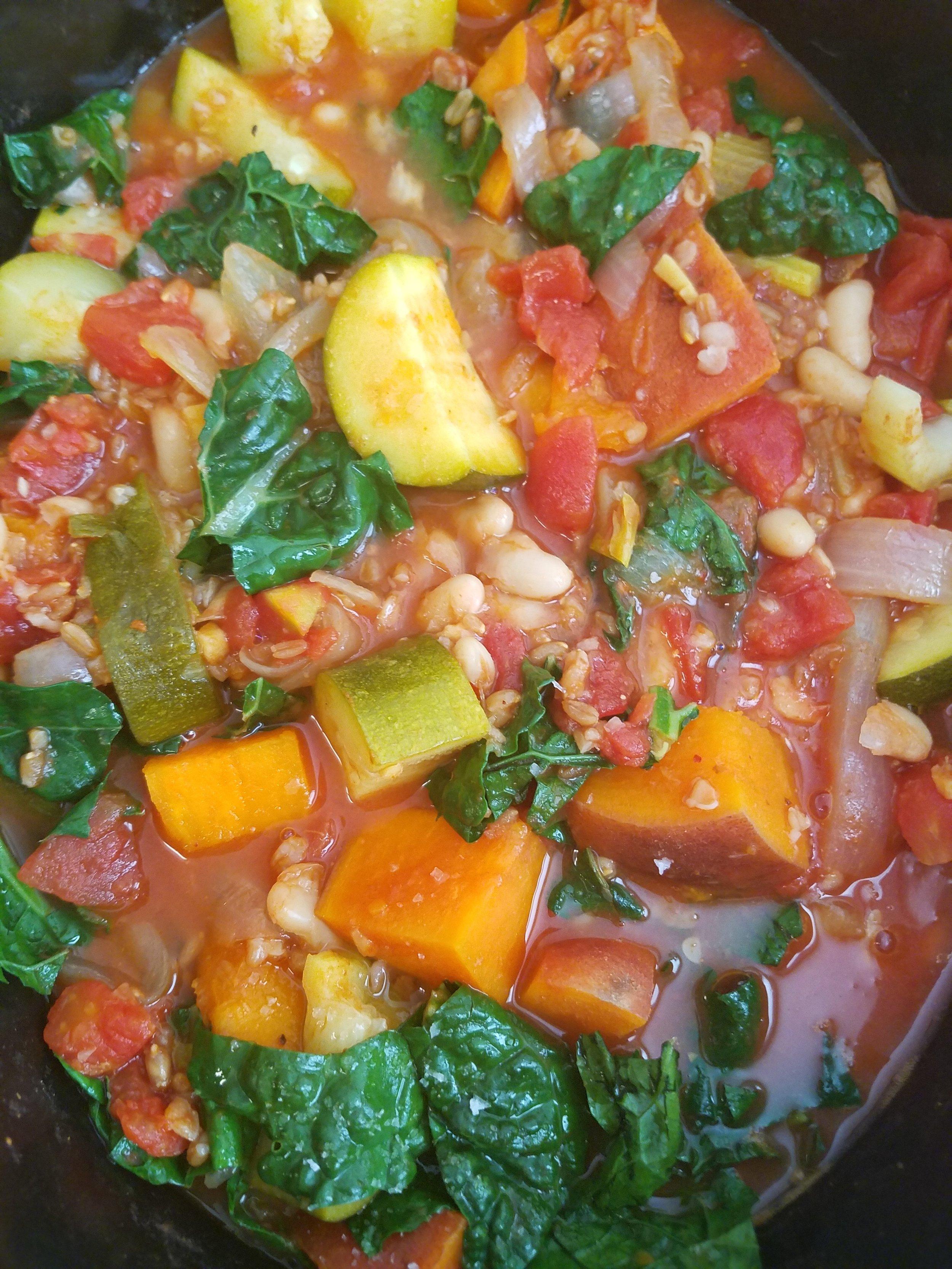 Slow Cooker Ginger-Harissa White Bean Stew