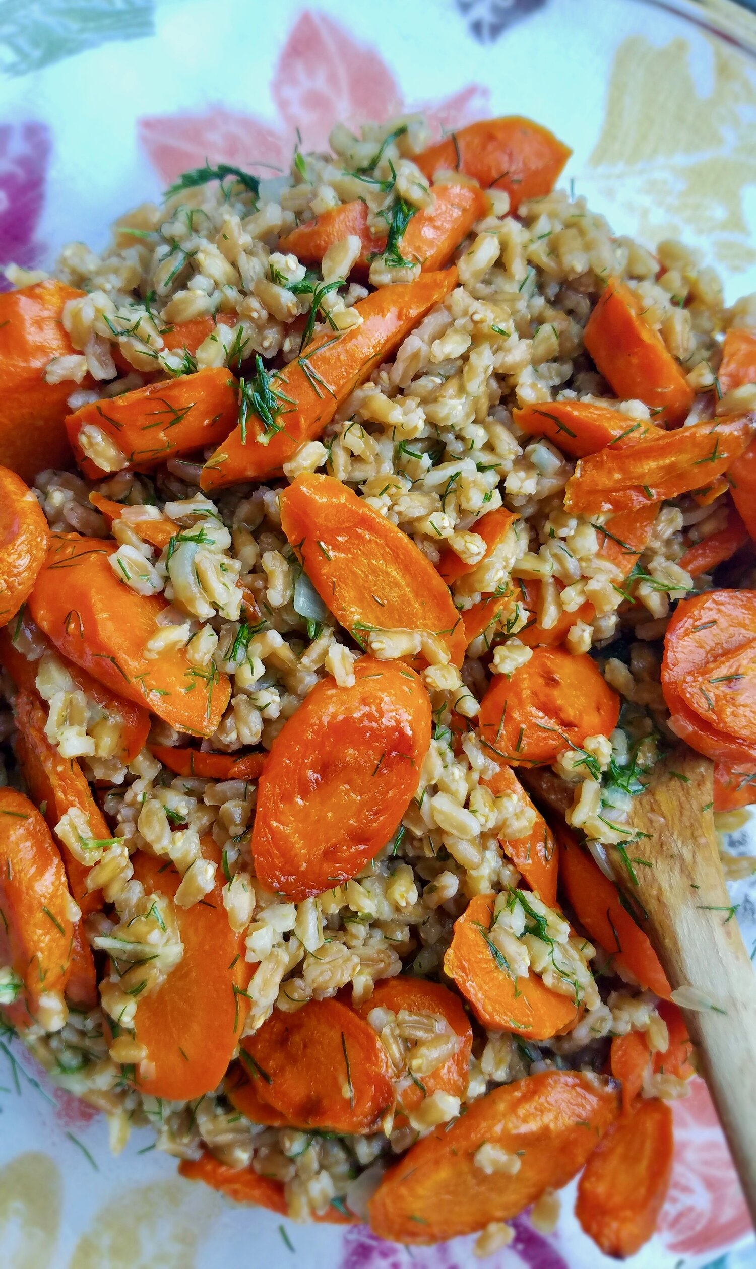 Roasted Carrots and Farro with Citrus, Ginger and Dill3.jpeg