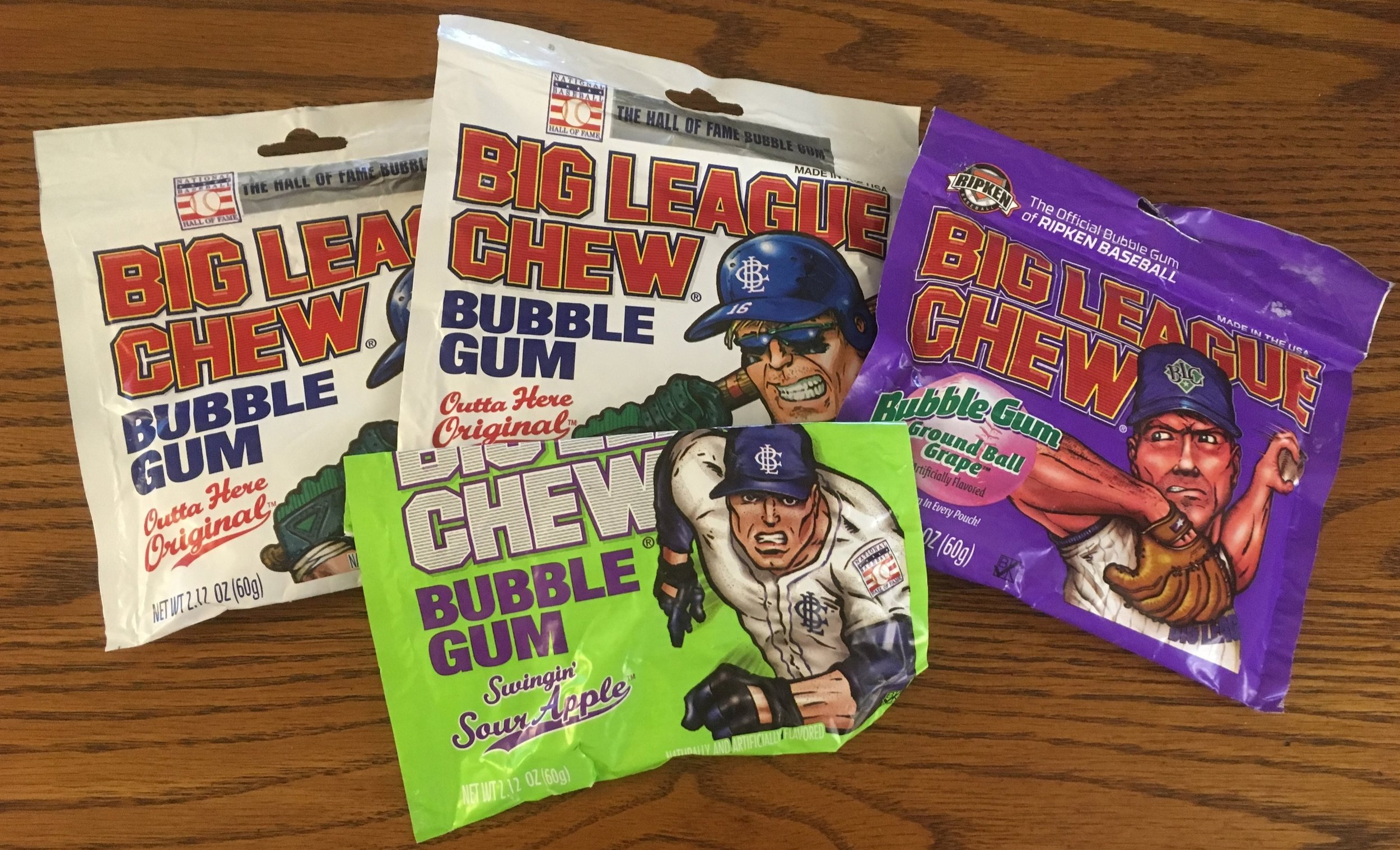 Original, Grape, and Sour Apple Big League Chew is in stock at WaxPackHero headquarters!