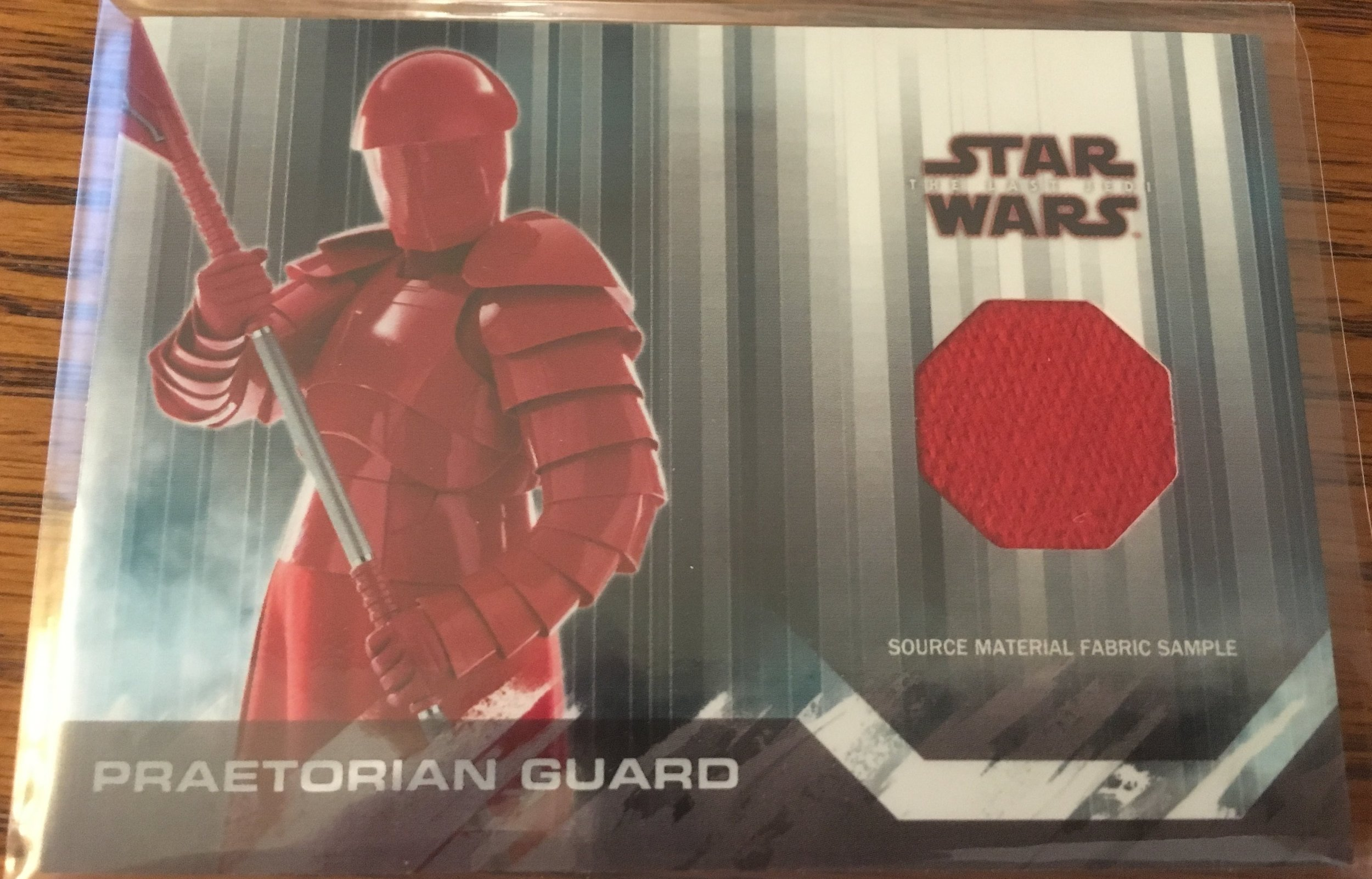 My Praetorian Guard fabric sample relic was a pretty nice find!