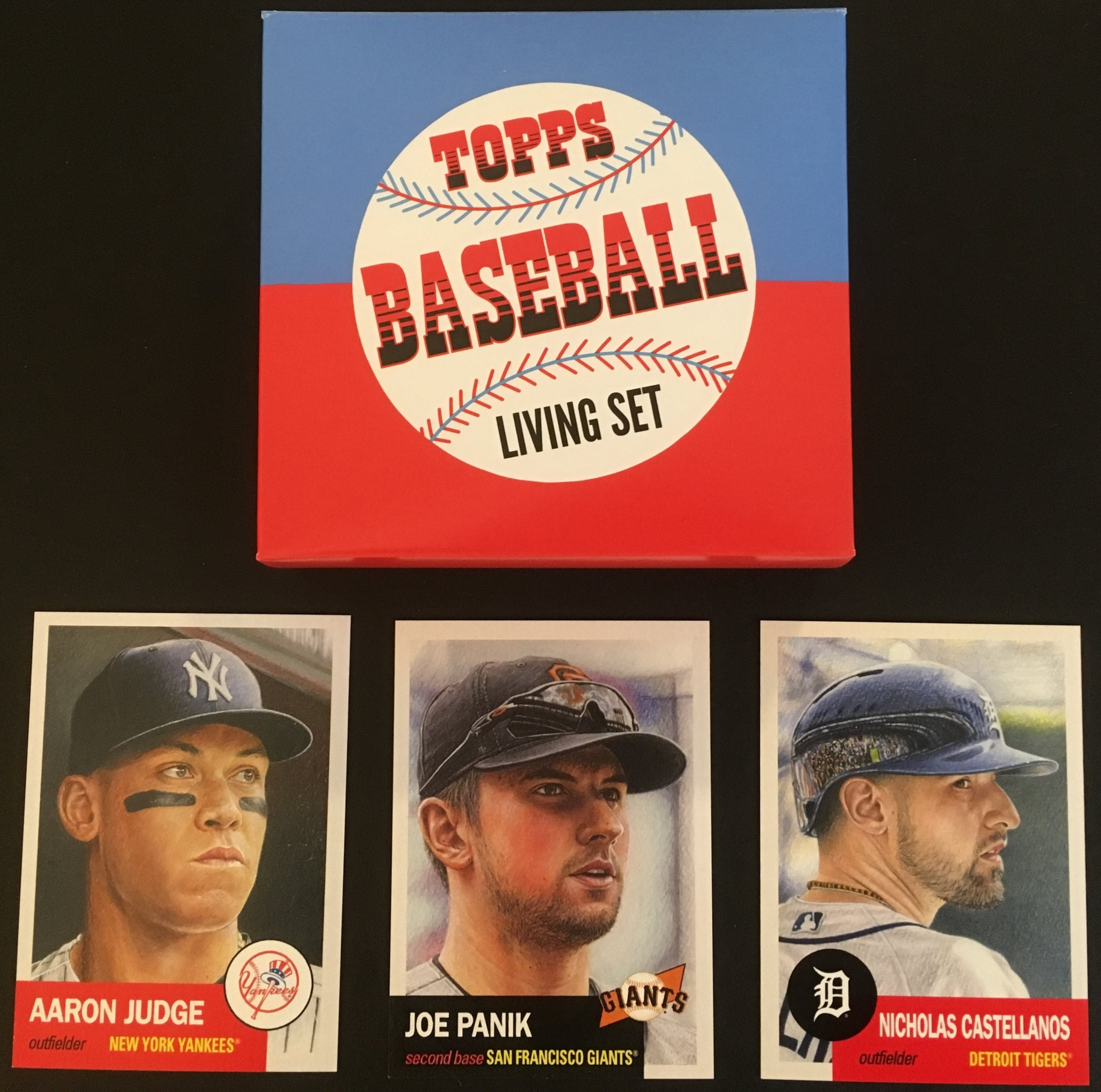 The Topps Living set launched in March 2018 with these three cards.