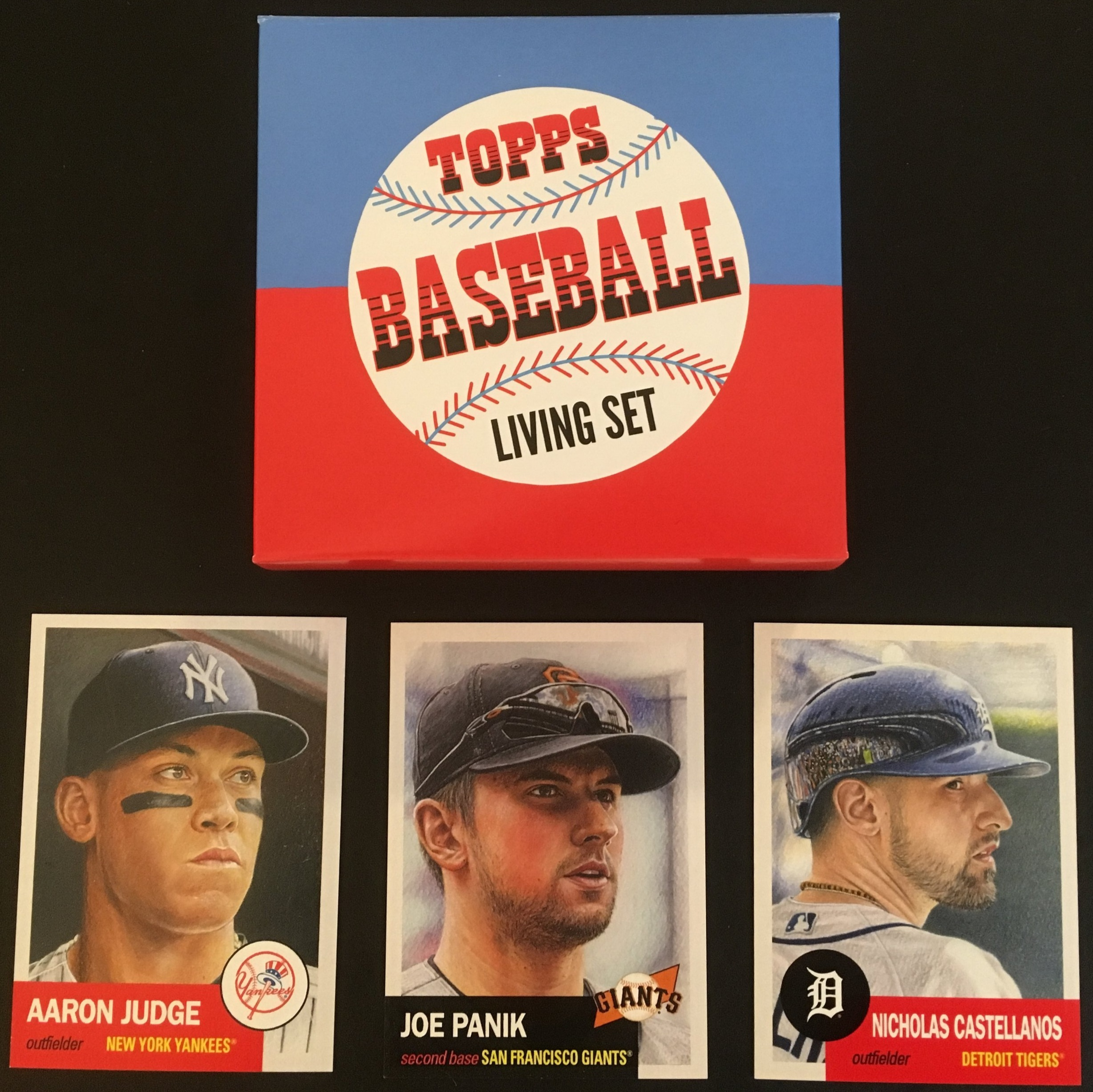 The Topps Living Set started with these three cards.