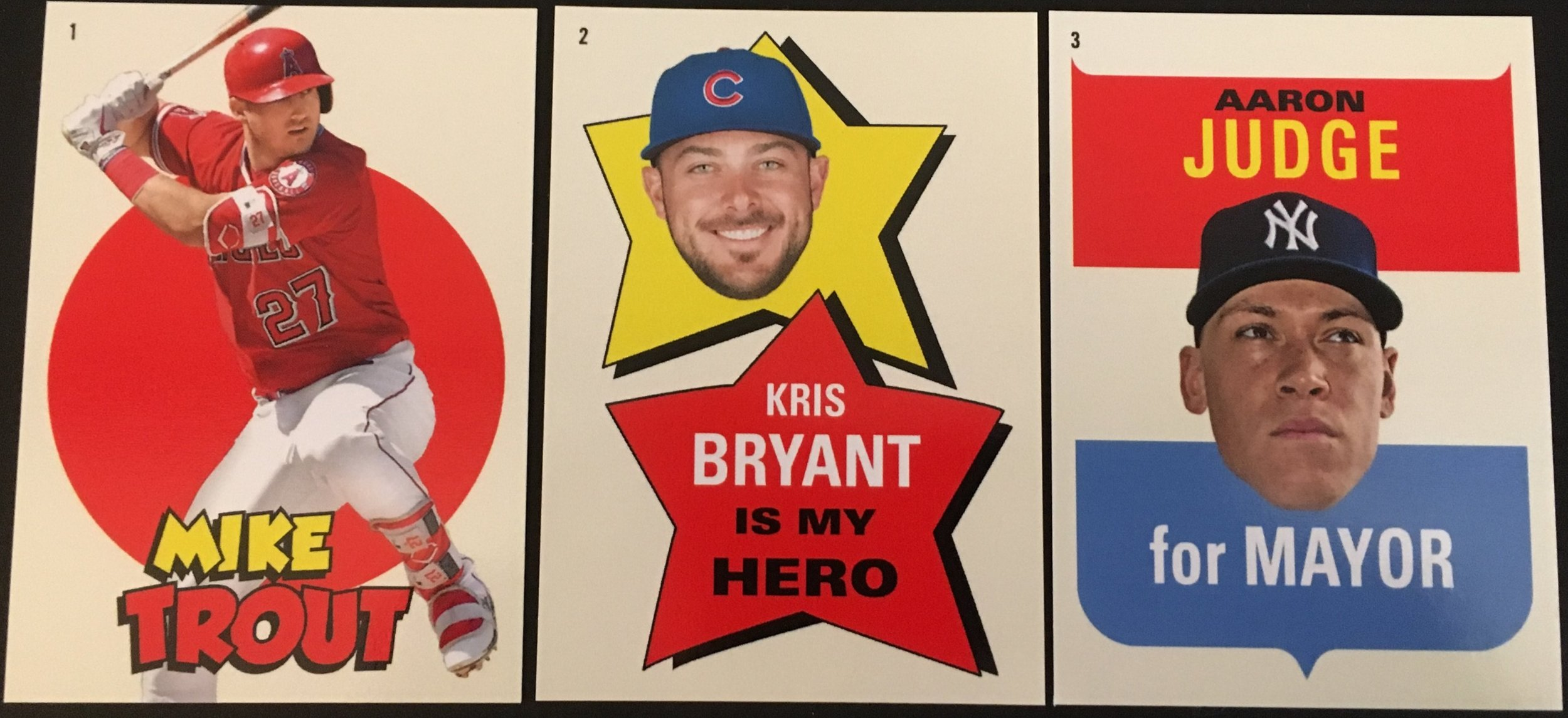 The first three stickers were Trout, Bryant, and Judge.