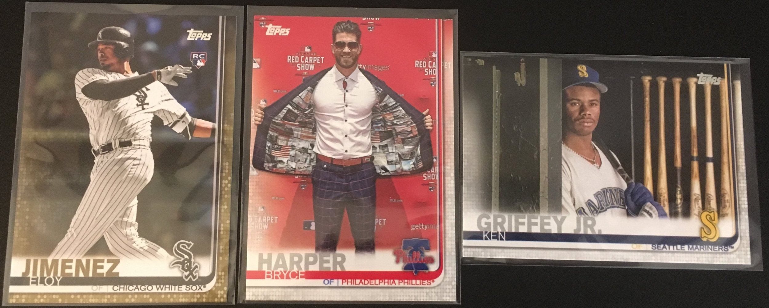 An Eloy Gold parallel, Bryce Harper SP, and a Ken Griffey Jr. SP were pulled from my boxes!