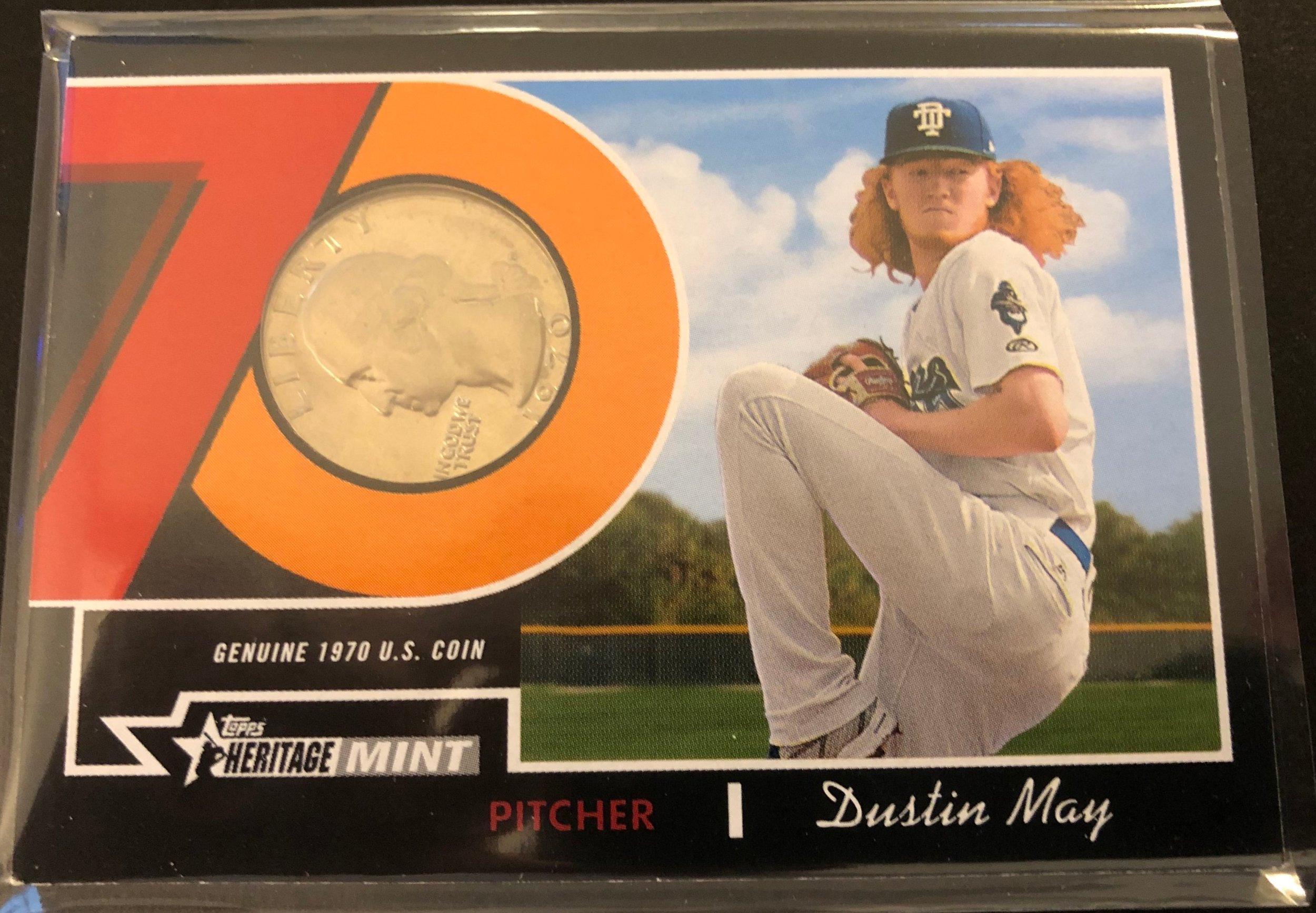 "These coin relics are one of the potential ""hits"" in 2019 Heritage Minors, and the Seth Beer Auto was probably my most valuable card pulled in the break."