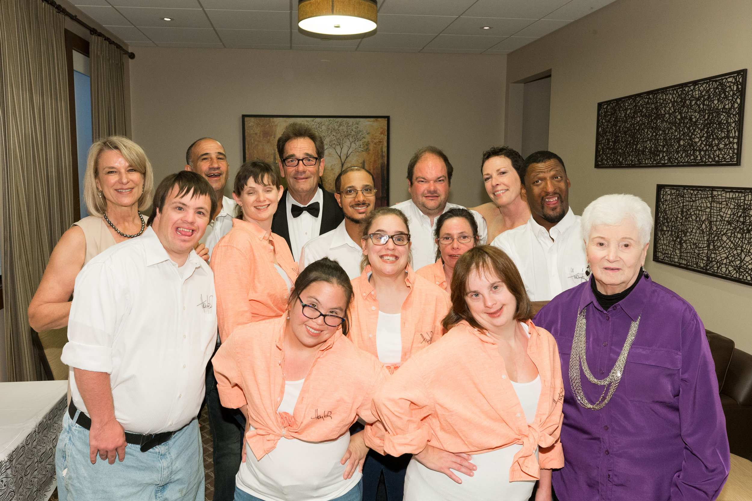 2017 Performance Group with Nancy Dow Moody, Huey Lewis, Sharon Sides, and Lois Press  Photo Credit: Drew Altizer
