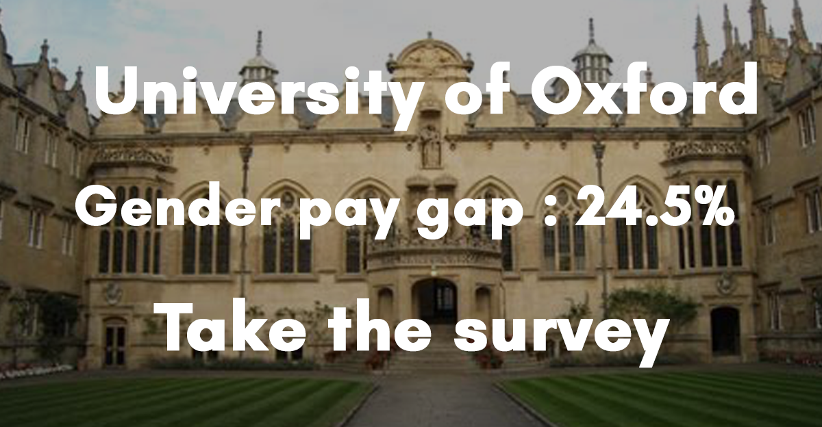 Check out the University of Oxford gender pay gap survey here 👆