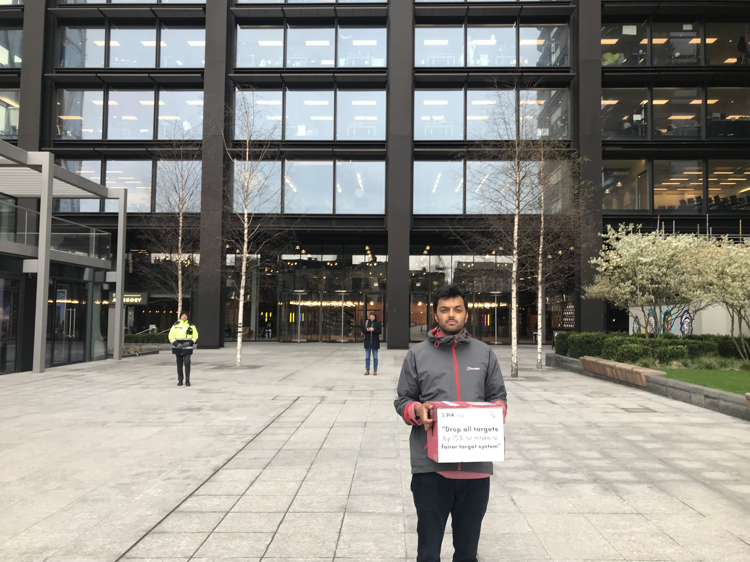 Delivering the petition to Amazon HQ