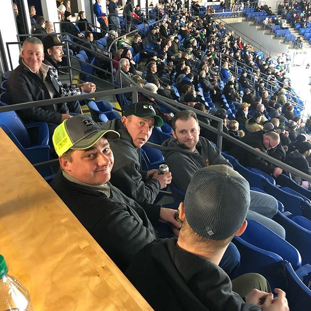Part of the crew enjoying the #SCbronco game in the Richardson booth