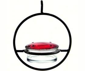 Glass Sphere Hummingbird Feeder