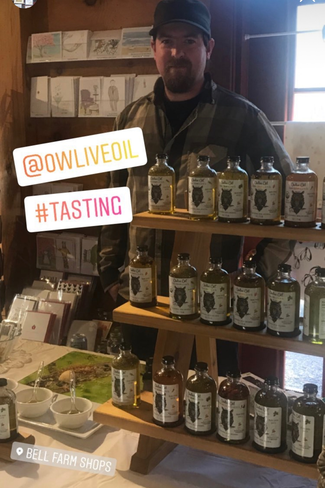 Owlive Oil at Bell Farm Shops