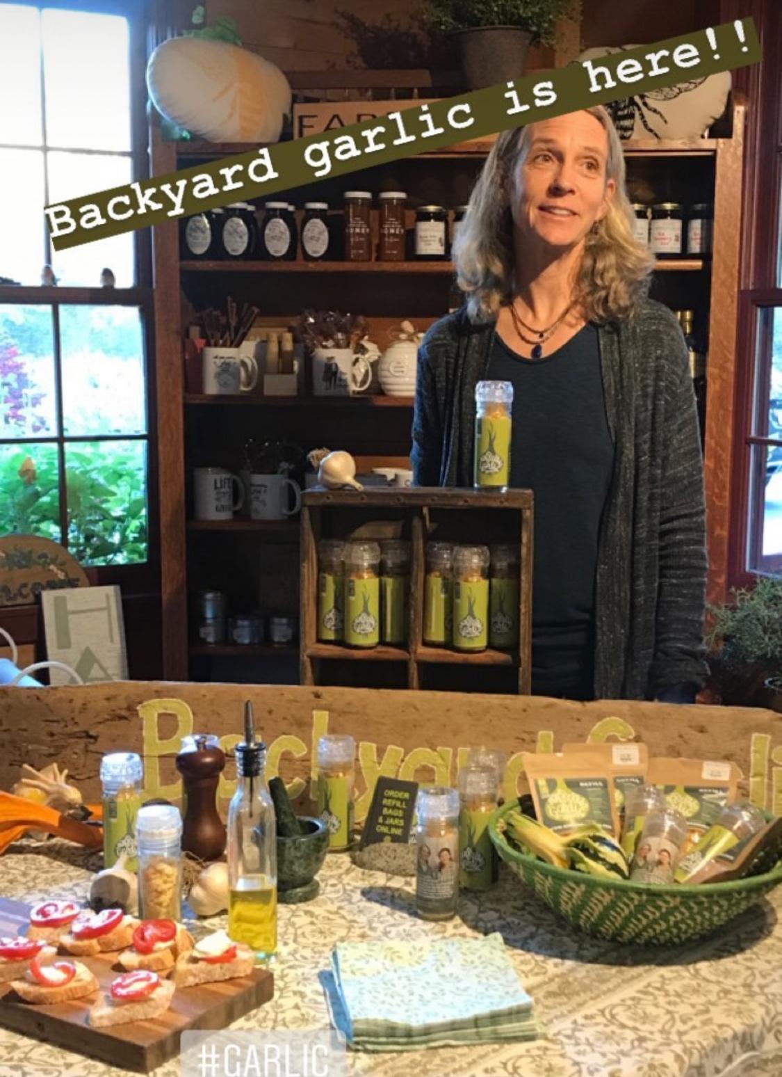 Backyard Garlic at Bell Farm Shops