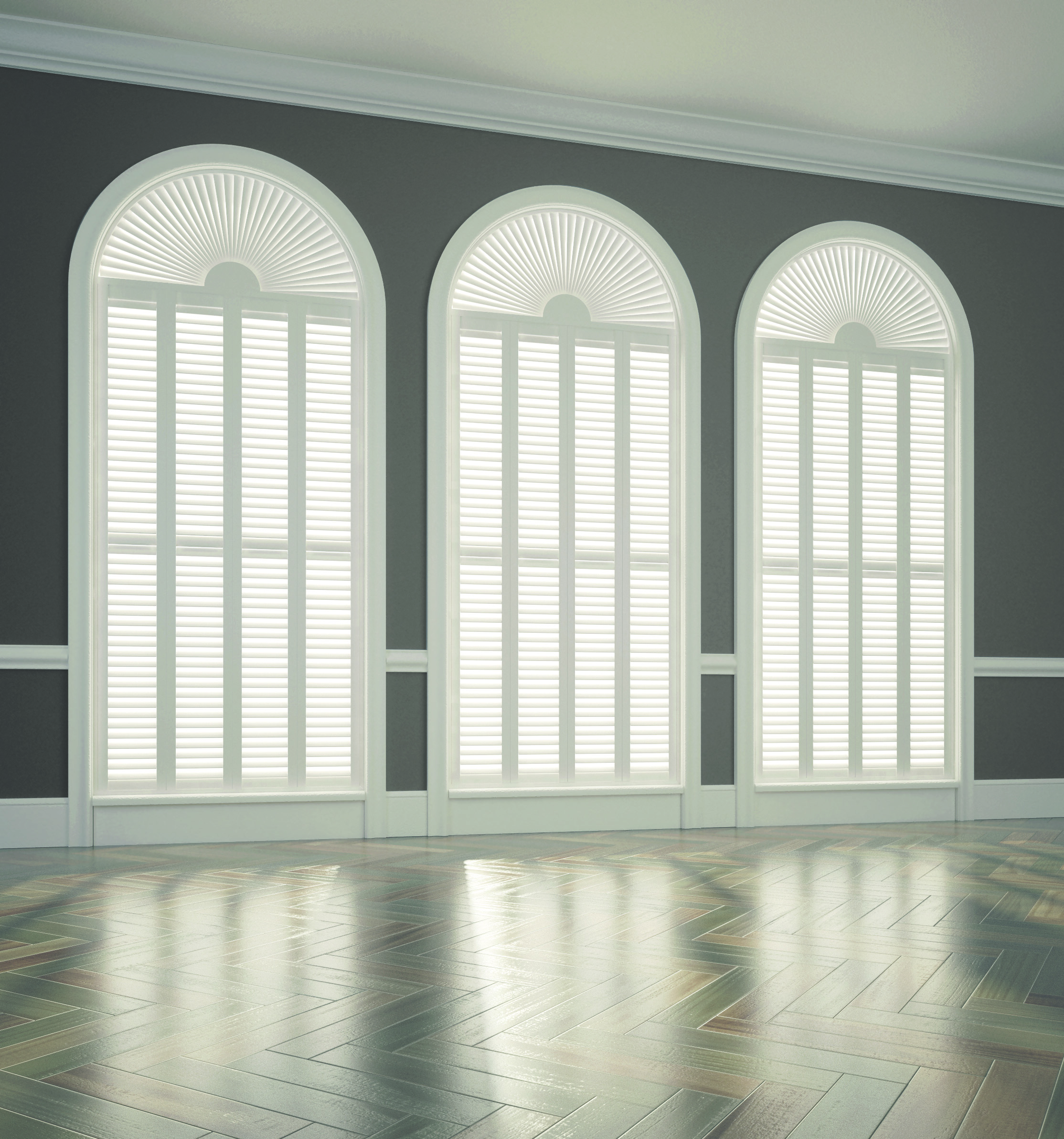 Shaped Full Height Shutters
