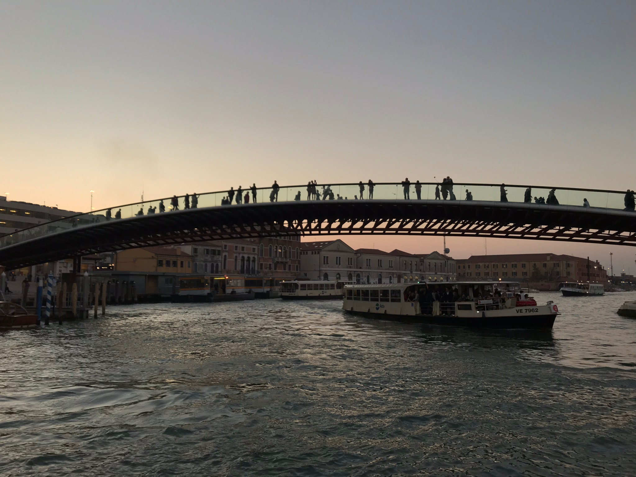 Ponte della Costituzione designed by Santiago Calatrava