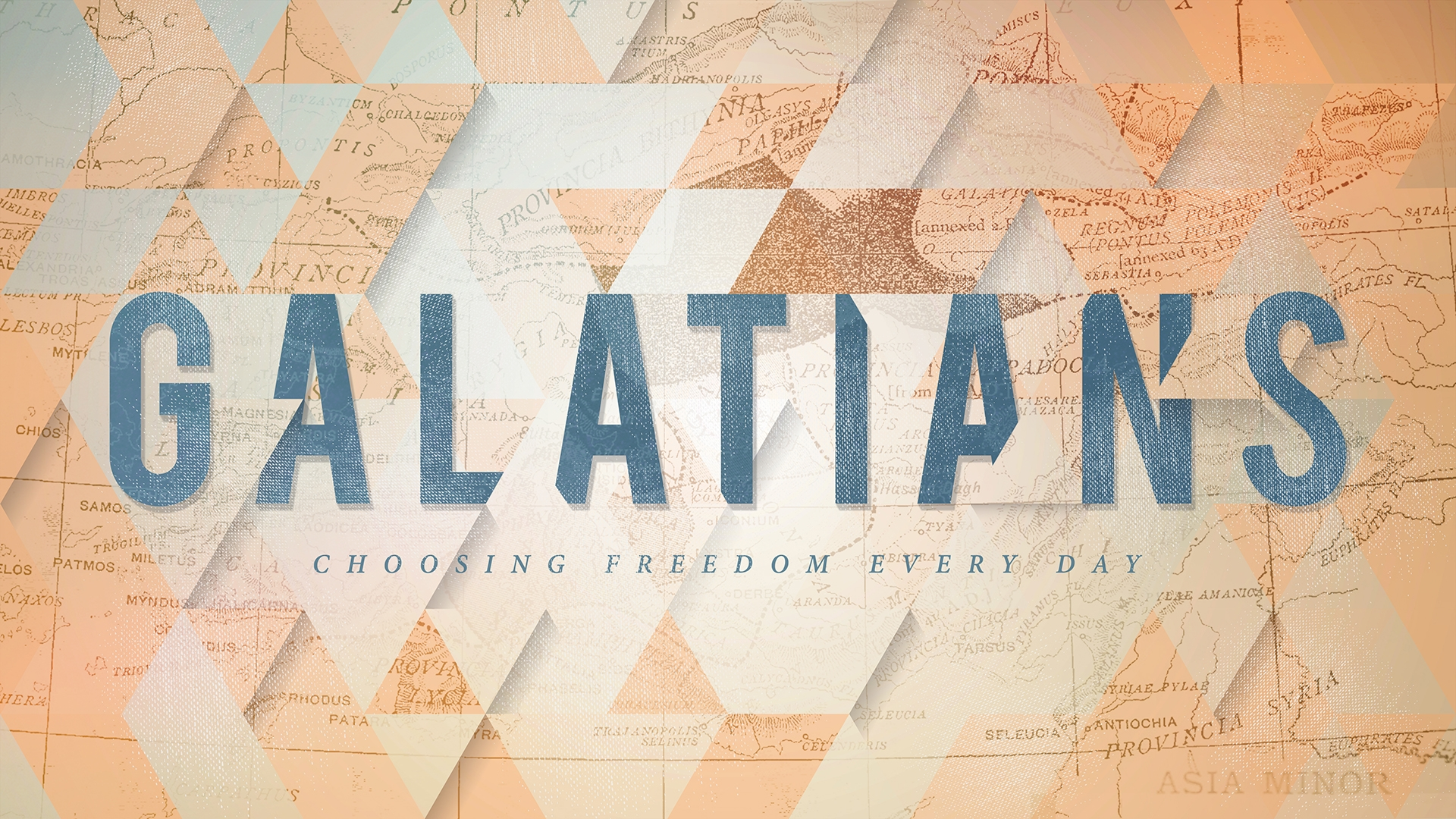 Galatians - April-May 2018Message Video — Message Audio
