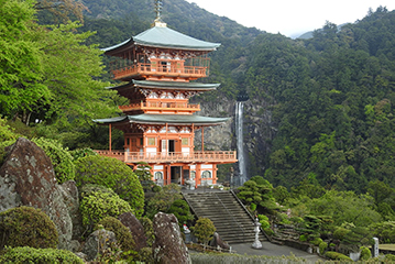 KUMANO KODO - Kumano is a coastal area in the southernmost part of Honshu with spiritual roots in Japanese history. As far back as the 9th century, worshippers have traversed this densely forested peninsula via the ancient trail Kumano Kodo trail. This historic route connects the ancient capitals of Nara and Kyoto to the worship sites, found dotted along the trail.