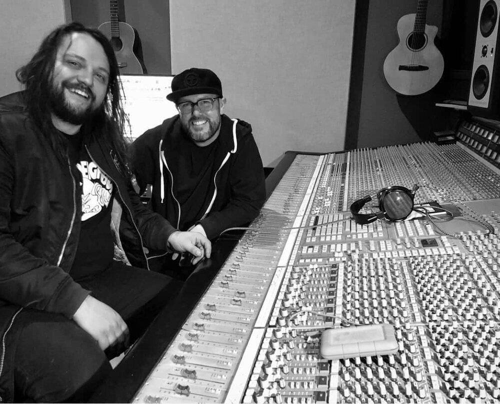 "Mark Cooley and Michal Menert recording ""Snowblind"""