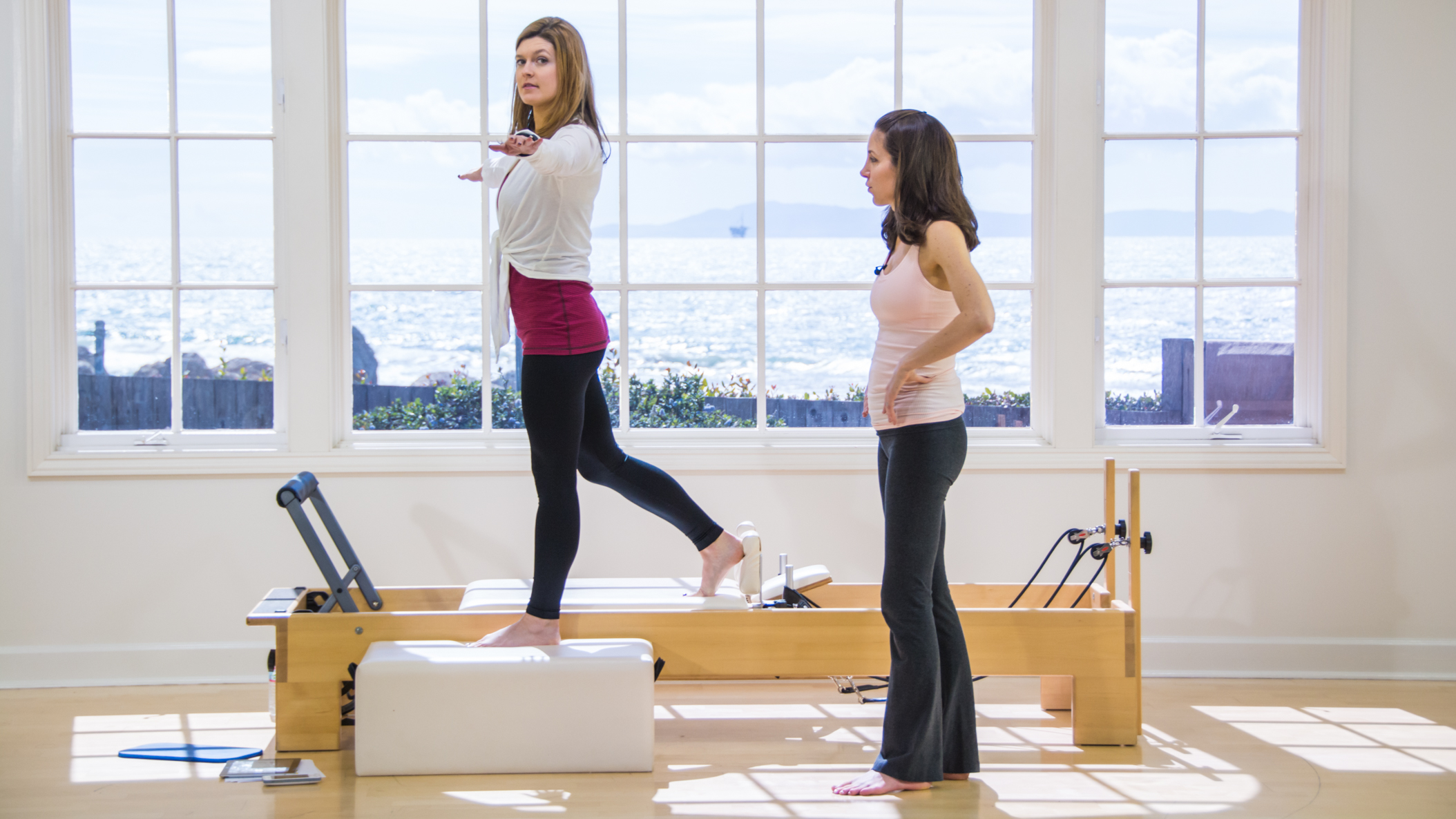 photo from Pilates Anytime – Wobbly: A Balance workshop