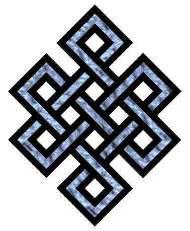 The endless knot is a common symbol for Karma.