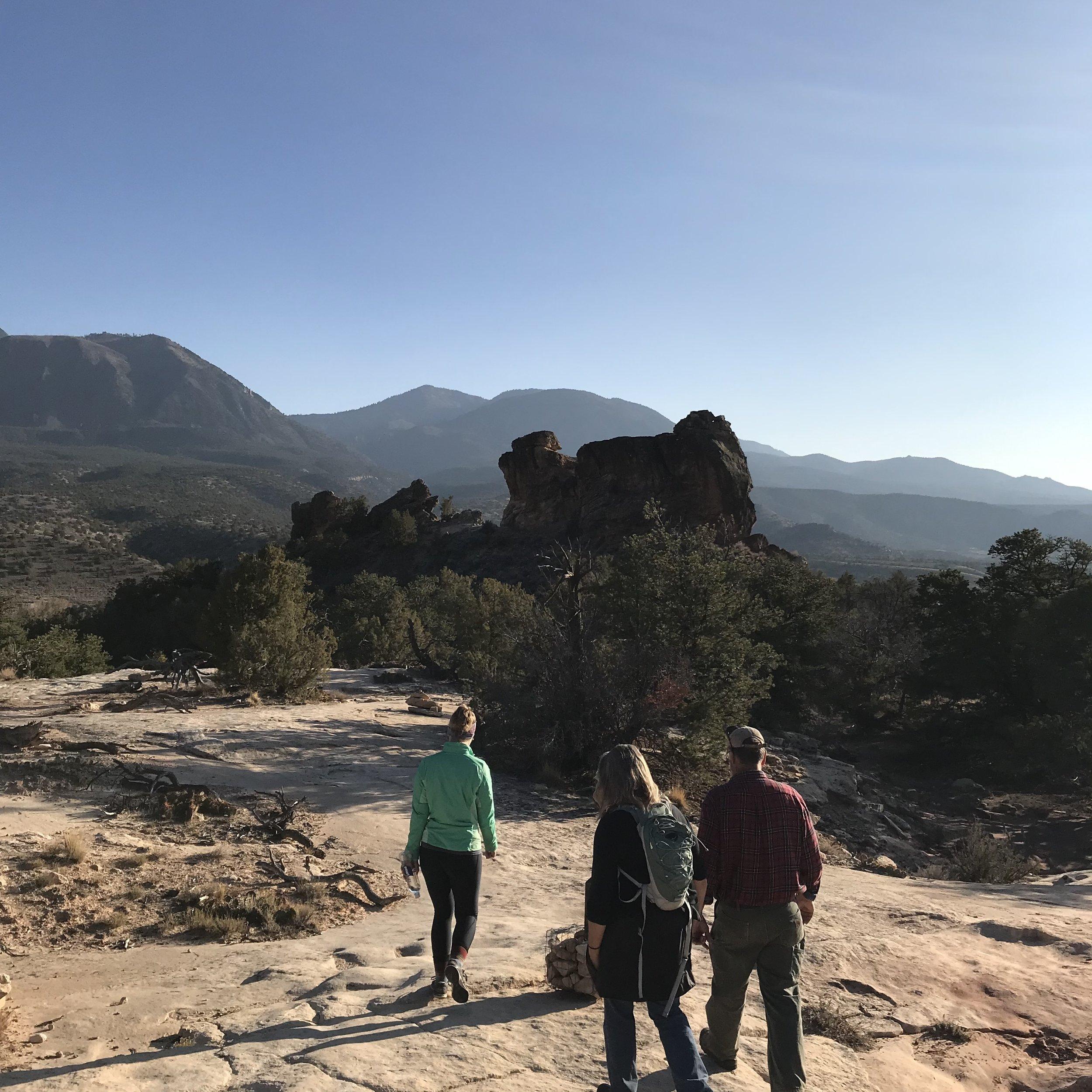 Hiking at Sand Canyon Trailhead