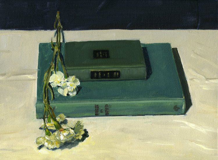Books and Flowers No. 2