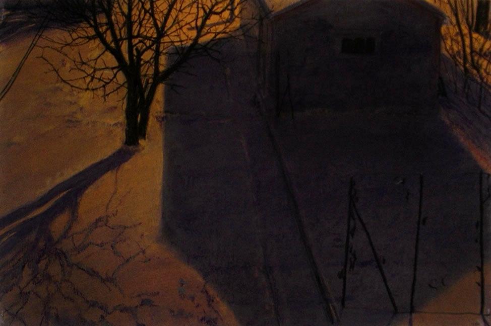 Garage, Winter Night
