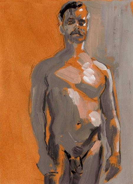 Grey and Orange Man