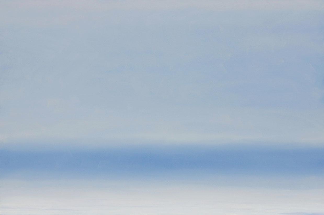 Blue and White Lake