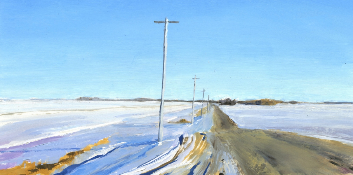 Study for Prairie Road in Winter