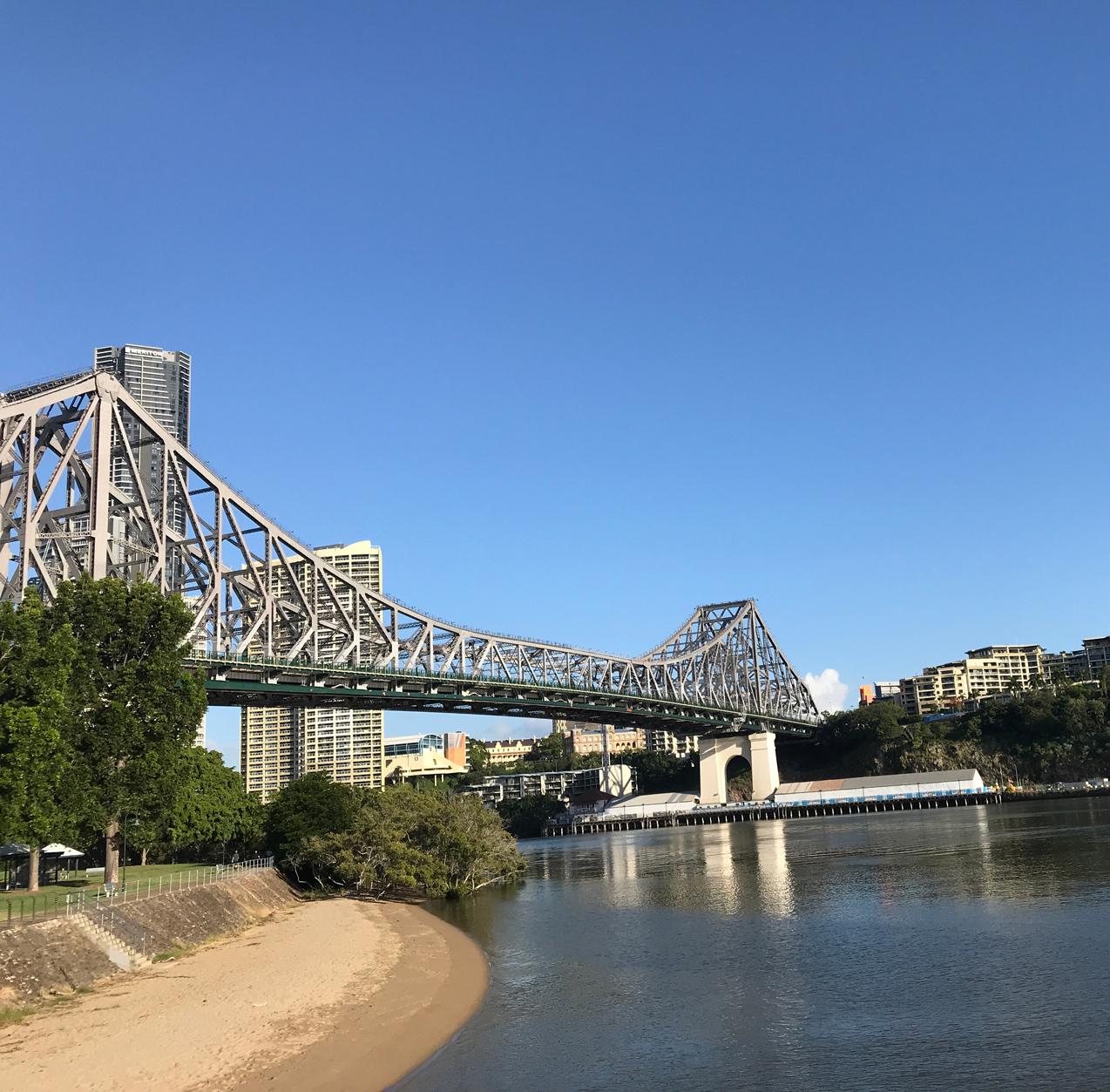 Brisbane's Story Bridge from Captain Burke Park.