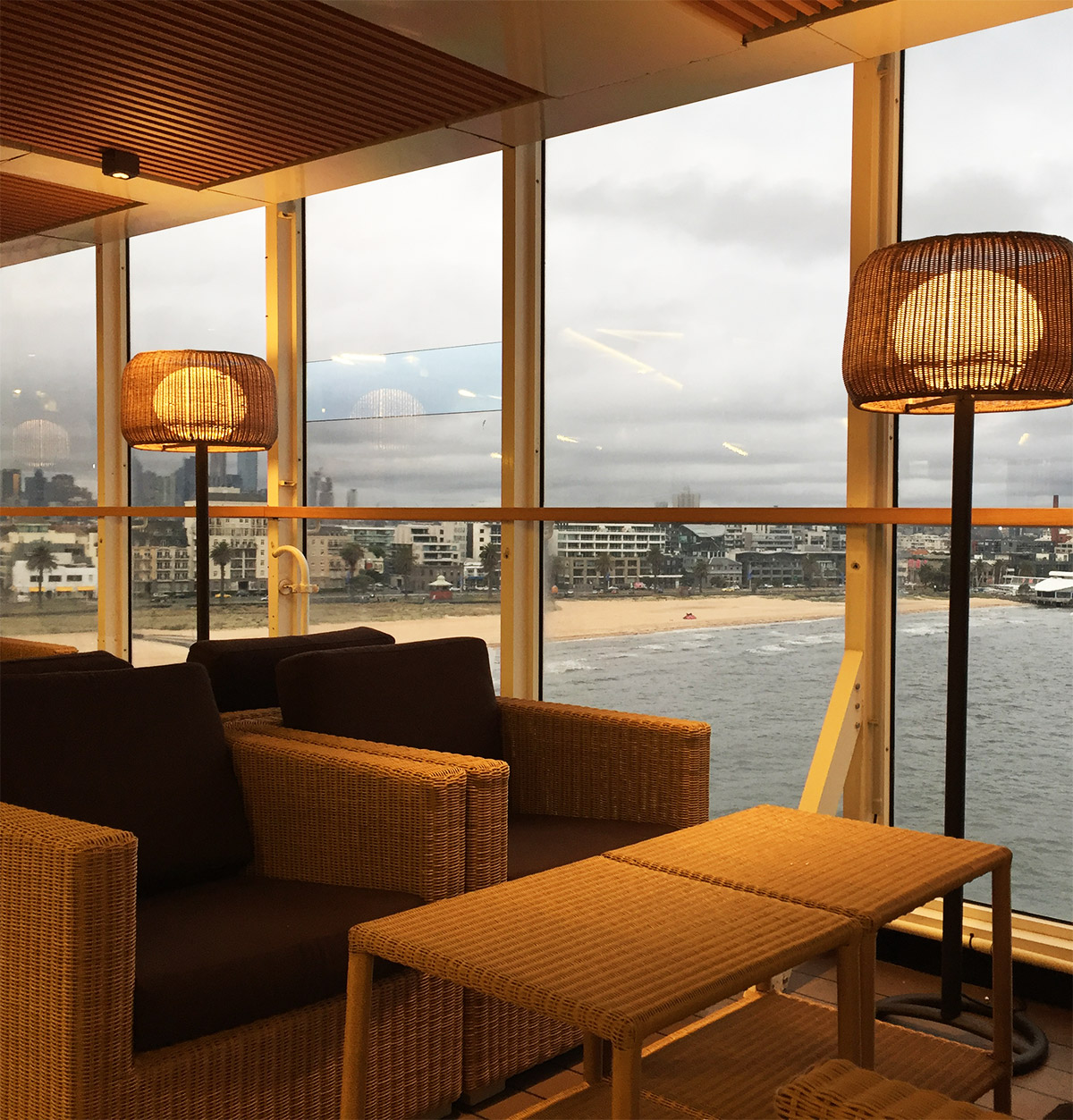 Top Deck Lounge - Warm lighting on a cold day