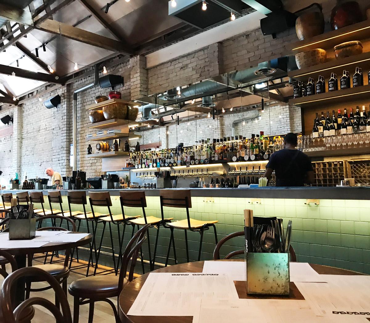 Hawker Hall - Facing the bar