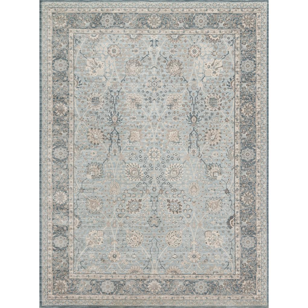 Ella Rose Magnolia Rug in Light Blue