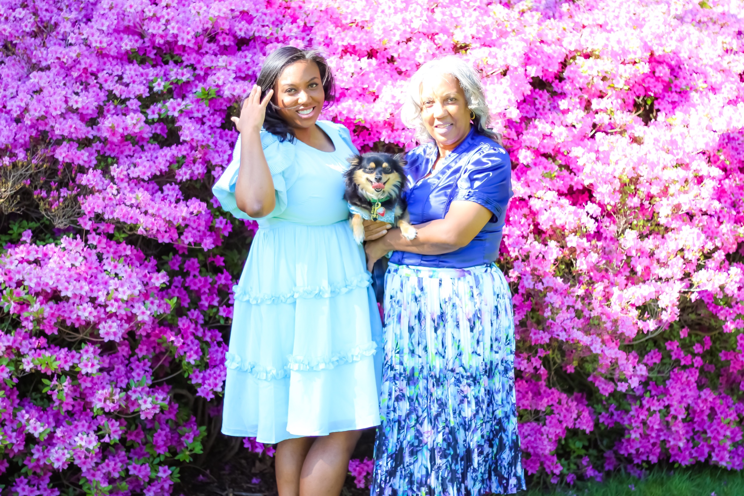 Feminine Ruffles and Jewel Tones - Mother's Day at Sherwood Gardens
