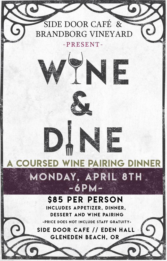 Wine Tasting and Dinner Pairing at Side Door Cafe along the Oregon Coast
