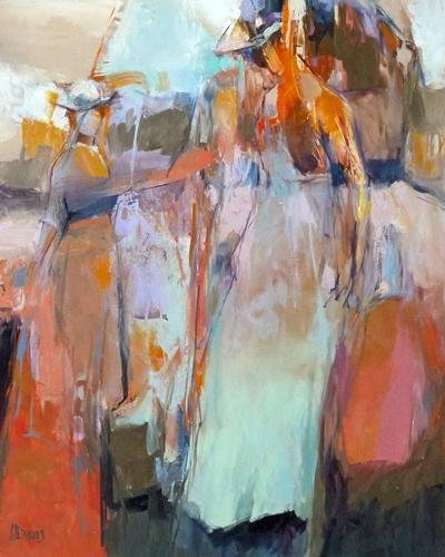 """<i> BELLE ÉPOCH FIGURES </i> <br> Oil on canvas <br> 30"""" x 24"""" <br> Price: SOLD"""