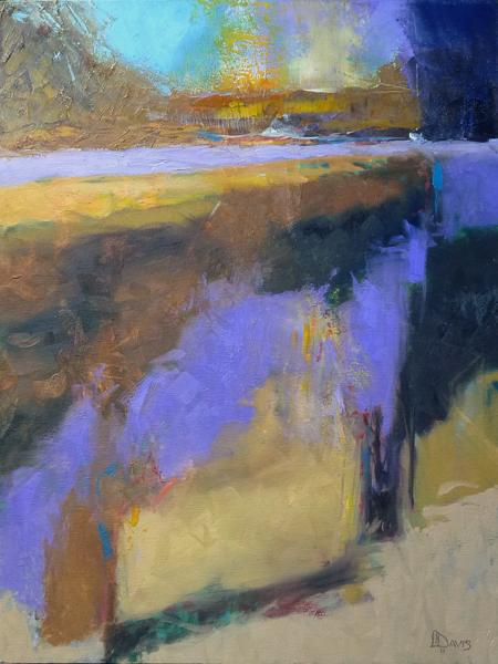"""<i> VIOLET POND </i> <br> Oil on canvas <br>24"""" x 18"""" <br> SOLD"""