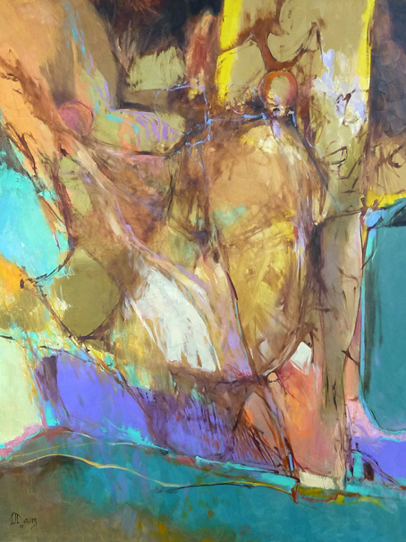 """<i> ABSTRACT ENVIRONMENT </i> <br> Oil on panel <br> 48""""x36"""" <br> SOLD"""