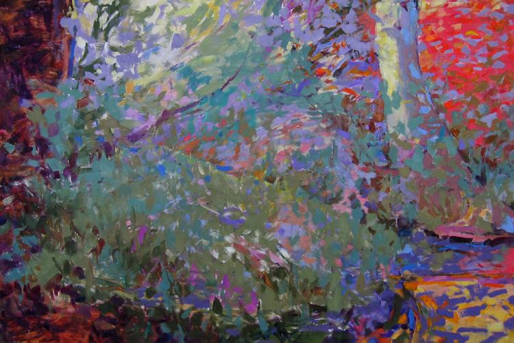 """Autumn Ravine    Oil on canvas  24"""" x 30""""  Price: $1200"""
