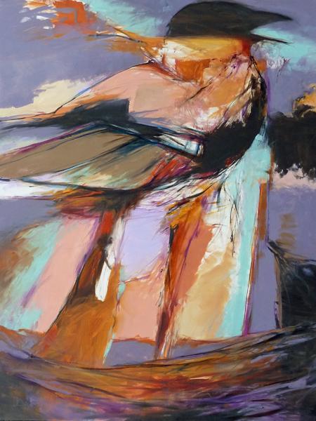 "Corvus Brachyrhynchos    Oil on canvas  40"" x 30""  Price:  SOLD"