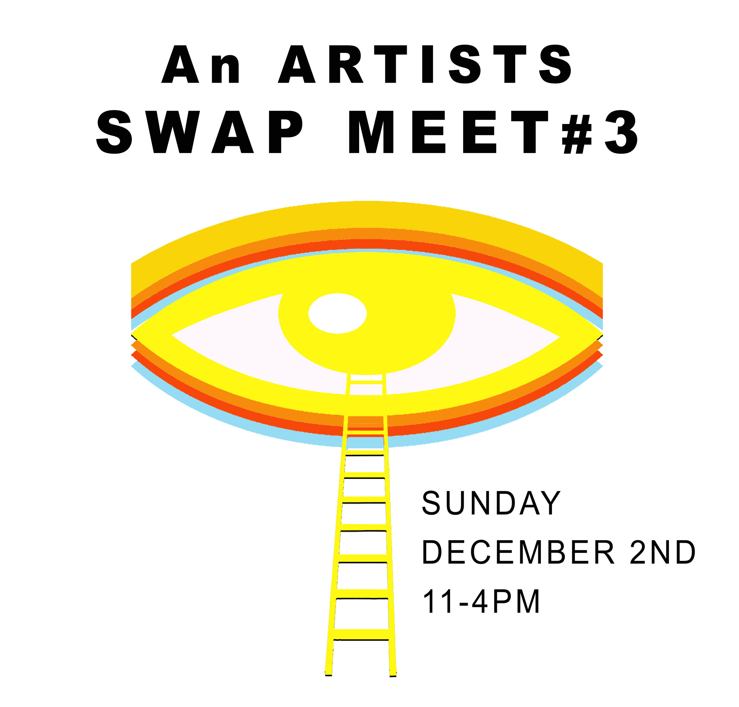 """- ODD ARK • LA invites you to the Third Artists Swap-Meet!When: 12/02/2018 11-4pmLocation: the large parking lot at ODD ARK • LA, 7101 North Figueroa St. 90042What is it?A happening, exhibition, sale, community gathering, cultural exchange and an opportunity to recycle and reduce our environmental footprint. Participants:artists, artist collectives, artists run spaces, art publications.>>> OVER 40 PARTICIPANTS with the work of over 100 artists presented! Exhibition and sale of:original works editionsspecial projects art catalogs and art magazines""""failed"""" works art supplies and toolsstudio furniture studio bric-a-bracTrading:work books and magssupplies info and stories*Event curated by opportunity, chance and serendipity.Participants keep 100% of sales!"""