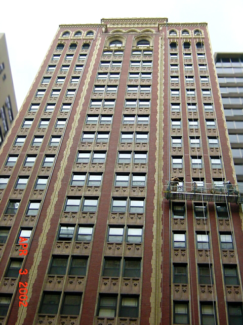 exterior facade inspection, City of Chicago facade ordinance, highrise, skyscraper, swing stage, brick concrerte stone exterior inspection