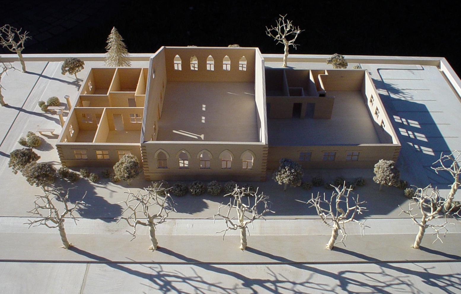 custom new construction, institutional design, church building, small congregation, 3D model, architectural scale model