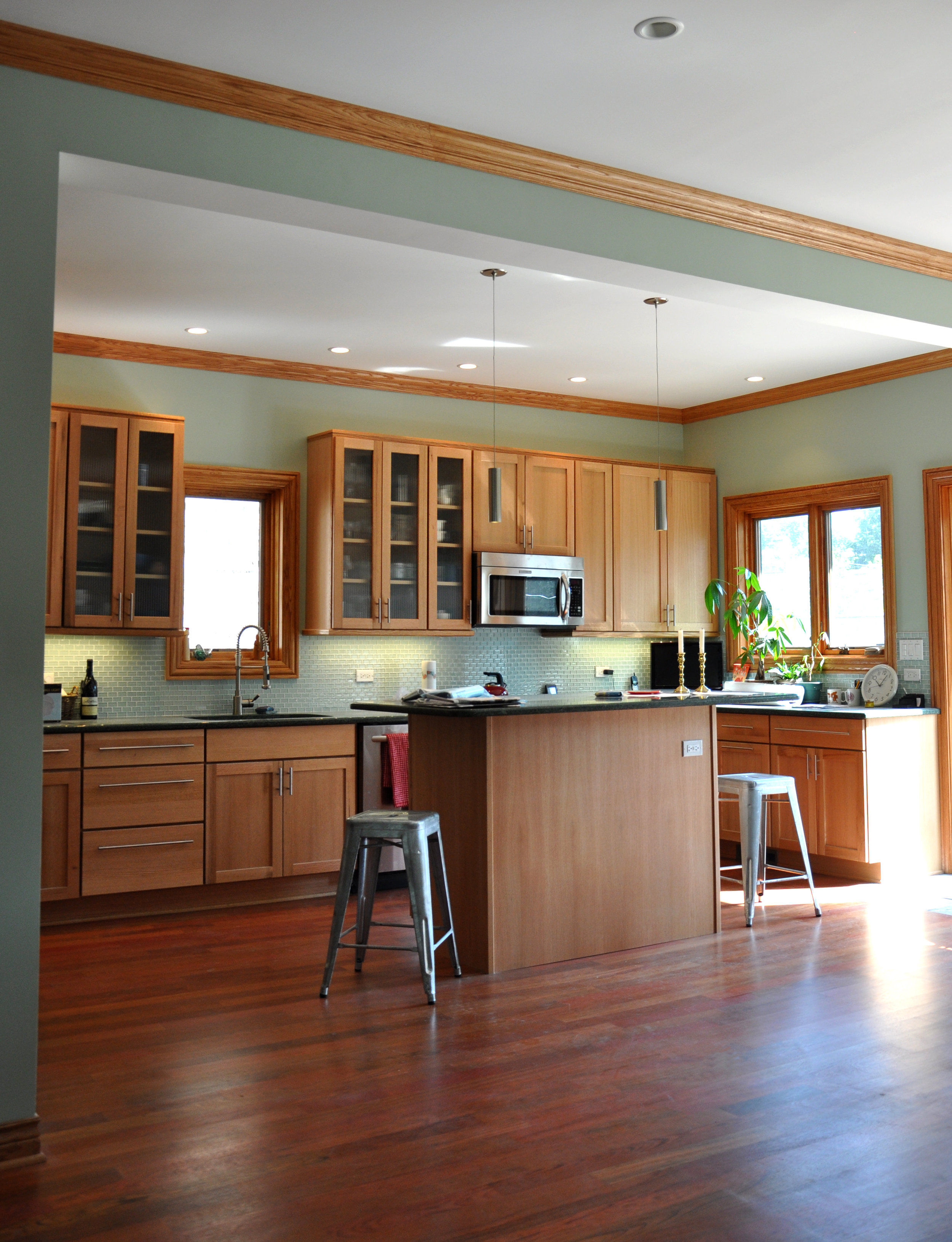 single-family residential addition and renovation, compact design, kitchen, open plan